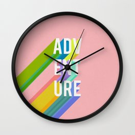 Adventure in Pink Wall Clock