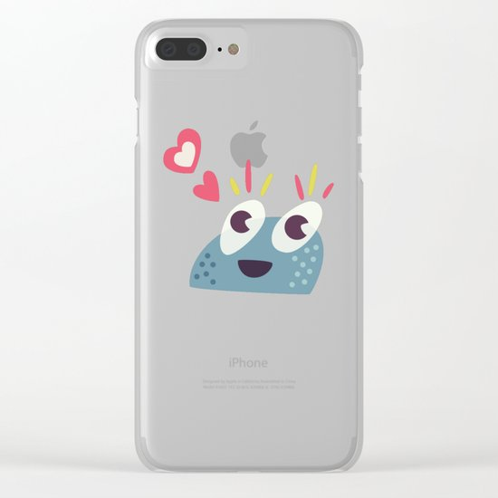Kawaii Cute Candy Character Clear iPhone Case