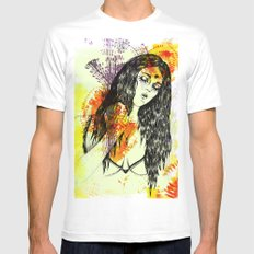 Tribal Beauty 3 Mens Fitted Tee White MEDIUM