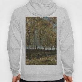 1885-Vincent van Gogh-Lane with Poplars-78x97 Hoody