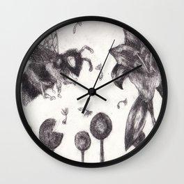 Bee Happy 3 Wall Clock