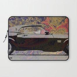 Classic rocker black car year 1939 on Boston map Laptop Sleeve