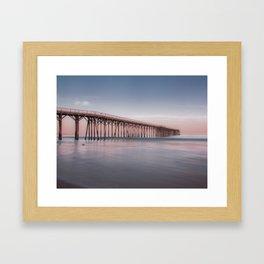 San Simeon Pier Framed Art Print