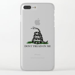 "Gadsden ""Don't Tread On Me"" Flag, High Quality image Clear iPhone Case"
