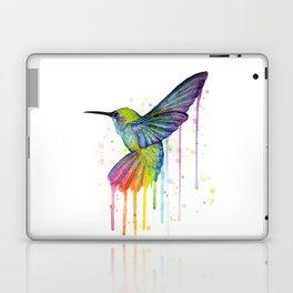 Hummingbird Rainbow Watercolor Laptop & iPad Skin