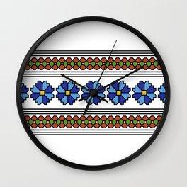 romanian popular pattern Wall Clock