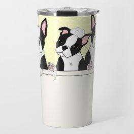 Boston Puppies in a Tub Travel Mug