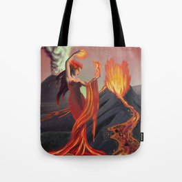 Lemurian Goddess of Fire Tote Bag