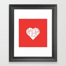 Heart of the City Redux Framed Art Print