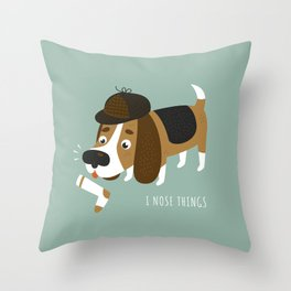 I Nose Things Throw Pillow