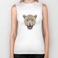 leopard Biker Tanks featuring Leopard by dailydunners