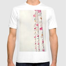 prayer flags no. 2 SMALL Mens Fitted Tee White