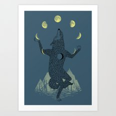 Moon Juggler Art Print