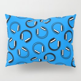 Headphones-Blue Pillow Sham