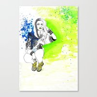 acid Canvas Prints featuring Acid by N.I.S.