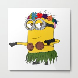 Hawaii Minion  Metal Print