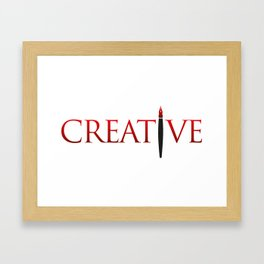 Creative Word with Pen Framed Art Print