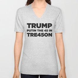 TRUMP TREASON Unisex V-Neck