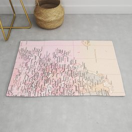 Rose Word Map Europe Rug