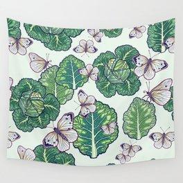 butterflies in the garden Wall Tapestry