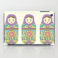 russian iPad Cases featuring Russian Doll by haleyivers