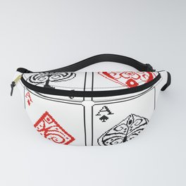 Ace cards pattern Fanny Pack