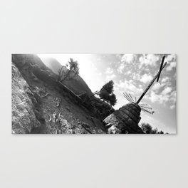 Holy view of abandoned monastery \\ Spain Canvas Print