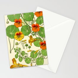 French botanical flower plate - Maurice Verneuil - Capucine Stationery Cards