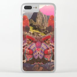Cuzco Roots Red Clear iPhone Case