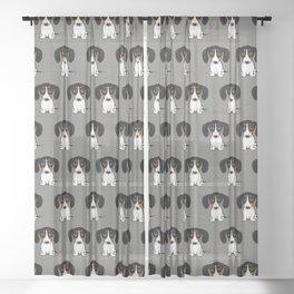 Piebald Dachshund | Cute Wiener Dog Puppy Sheer Curtain