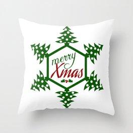 Xmas TreeFlake Throw Pillow