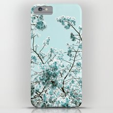 Spring Mint Flowers iPhone 6 Plus Slim Case