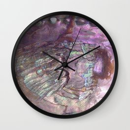 Shimmery Lavender Abalone Mother of Pearl Wall Clock