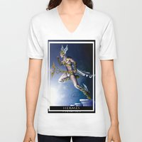 versace V-neck T-shirts featuring VERSACE GOD by CARLOSGZZ