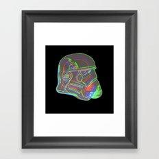 Neon Trooper Framed Art Print