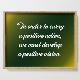 Positive Action Serving Tray