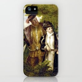Tudor Romance - Henry VIII and Anne Boleyn hunting iPhone Case