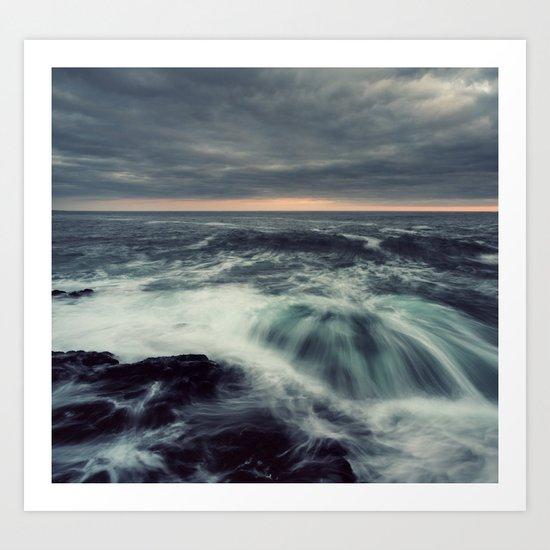 Dramatic Seas Art Print