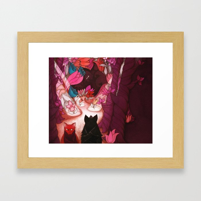 Go this way... Framed Art Print