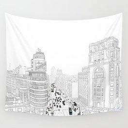 Gran Vía, Madrid Wall Tapestry