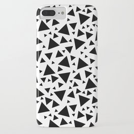Memphis Milano style pattern with triangles, black and white triangle pattern print iPhone Case