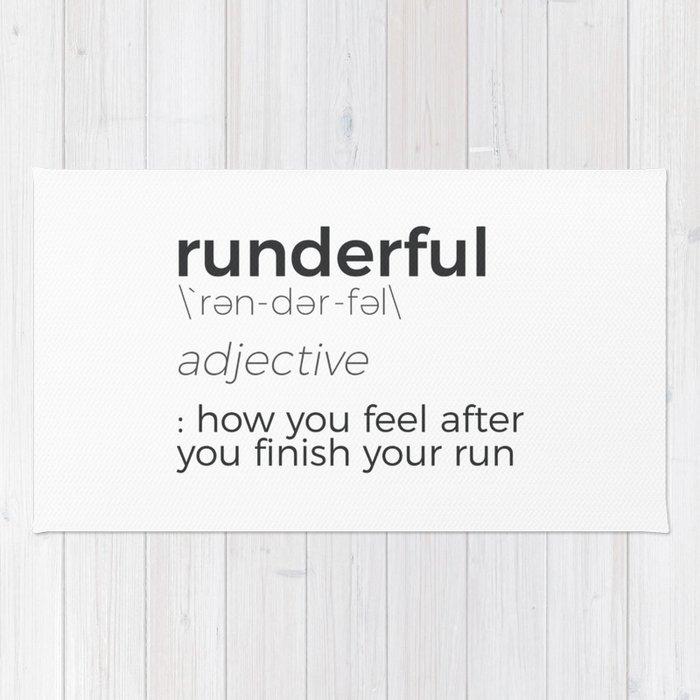 Adrenaline Rush Runner's High Running Is Life Run Design Rug