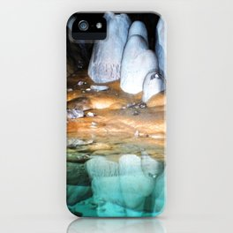 Watercolor Rock, Lechuguilla Cave 20, New Mexico, Turquoise Shores iPhone Case