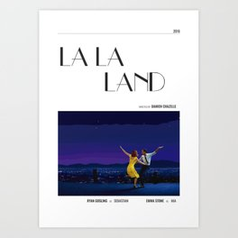 La La Land - Movie Poster - Damien Chazelle Art Print