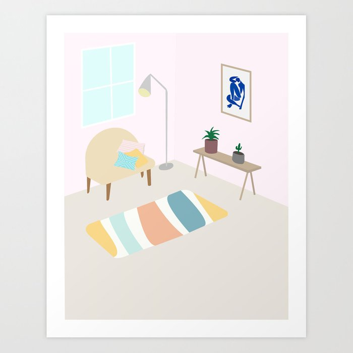 Interior with Matisse Art Print