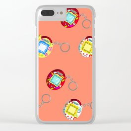 Tamagotchi Connection V2-Orange Clear iPhone Case