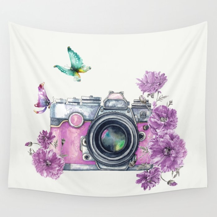 Camera with Summer Flowers 2