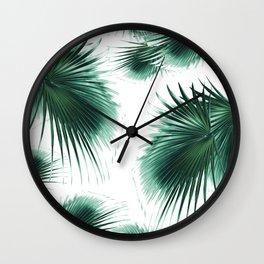 Fan Palm Leaves Paradise #7 #tropical #decor #art #society6 Wall Clock