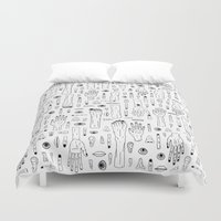 anatomy Duvet Covers featuring Anatomy by Frank Turner
