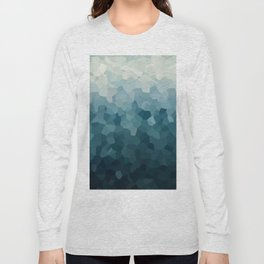 Ice Blue Mountains Moon Love Long Sleeve T-shirt